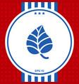 leaf symbol logo vector image