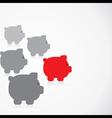 piggy bank race concept vector image