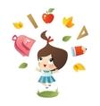 School girl vector image