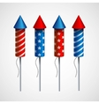 Set of pyrotechnic rockets vector image