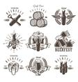 Set of vintage beer festival emblems vector image