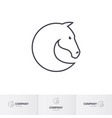 simple horse head for mascot logo template vector image