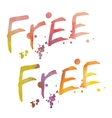 Watercolor lettering Free vector image