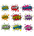 Set of Comic Text in Pop Art Style vector image vector image
