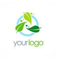 bio organic logo vector image