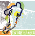 Basketball player in action vector image vector image
