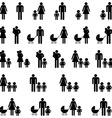 Single parent family icons vector image vector image