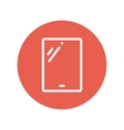 Tablet thin line icon vector image