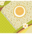 Abstract banner retro card vector image