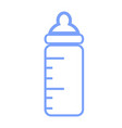 blue baby bottle icon on white background blue vector image