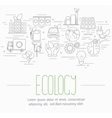 ecology symbols set vector image