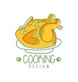 hand drawn cooking logo original design with baked vector image
