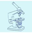line art silhouette of microscope Cartoon vector image