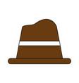 old hat cartoon vector image