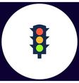 Traffic lights computer symbol vector image