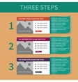 The template for the list of the three steps vector image