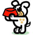 Playful Cartoon Dog vector image