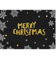 Merry Christmas Golden Greeting On blackboard vector image vector image