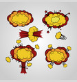 comic book cartoon explosion cloud set vector image