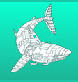 shark robot color fashion vector image