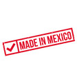 made in mexico rubber stamp vector image