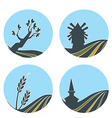 nature and lovely vector image vector image