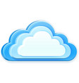 blue cloud vector image vector image