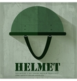 grunge military helmet icon background concept vector image