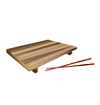 Wooden Geta Plate or Bamboo Sushi Board vector image vector image