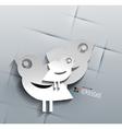 3d paper social bird design vector image