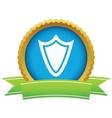 Gold shield logo vector image