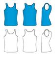 blue striped vest vector image