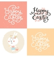 set of easter cards vector image