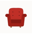 armchair silhouette vector image