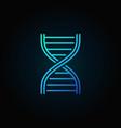 blue dna strand outline icon or logo vector image