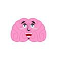 brain happy emotion human brains emoji marry vector image