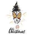 christmas greeting card - holidays vector image