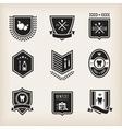 Dentist badges vector image