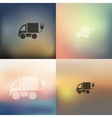 eco car icon on blurred background vector image