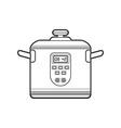 outline kitchen multicooker vector image