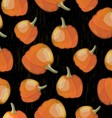 Pumpkin pattern vector image