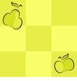 Seamless checkered background with fruits vector image