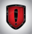 Security alert shield symbol icon vector image