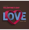Valentines Day Flyer EPS10 vector image