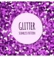 Violet glitter seamless pattern vector image