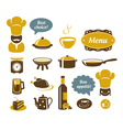 Kitchen and restaurant icons vector image vector image