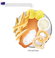 Fish and Chips A Popular Dish of New Zealand vector image