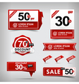 Collection of red and white web tag banner vector image