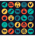 Set agriculture farming icons vector image