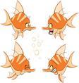 set of cartoon cute deep-water vector image